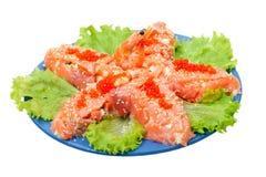 kawior gwiazda czerwona sałatkowa łososiowa denna Obrazy Royalty Free