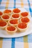kawioru czerwieni tartlets Fotografia Stock