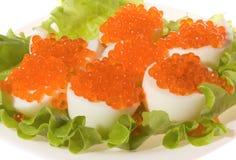 kawioru jajek zielona czerwona sałatka fotografia royalty free