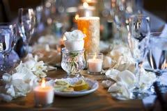 kawioru obiadowych blinów stołowy tablecloth Obrazy Stock