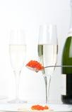 kawioru szampan Zdjęcie Royalty Free