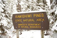 Kawishiwi Pines Natural Area Sign Royalty Free Stock Images