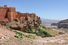 Kawkaban mountain village, Yemen. Ancient fortress in Kawkaban mountain village near Sanaa, Shibam Kawkaban District, Yemen Stock Images