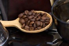 Kawowa łyżka Obrazy Royalty Free