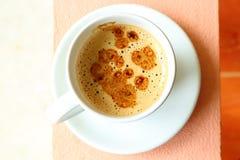 Kawowa biała filiżanka Zdjęcia Royalty Free