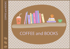 Kawowa biblioteczna etykieta obraz stock