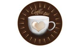 Kawowa czas filiżanka Zdjęcia Royalty Free