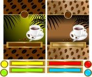 kawowa etykietka Zdjęcie Royalty Free