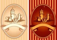 kawowa etykietka Zdjęcia Royalty Free