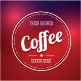 Kawowa etykietka Obrazy Stock