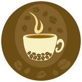 kawowa etykietka royalty ilustracja