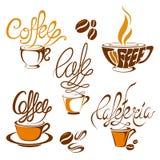 Kawowa etykietka i etykietka Zdjęcie Royalty Free