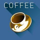 Kawowa grafika w wieloskładnikowych kolorach Zdjęcia Stock