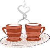 kawowa herbata ilustracji