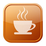 kawowa ikona Obrazy Stock