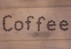 Kawowa inskrypcja Zdjęcia Royalty Free