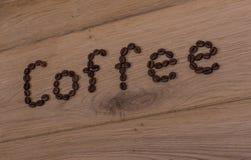 Kawowa inskrypcja Obrazy Royalty Free