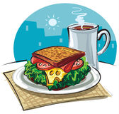 kawowa kanapka Obraz Royalty Free