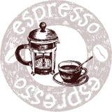 kawowa kawa espresso ilustracja wektor