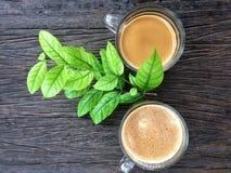 Kawowa kawa espresso gorąca Zdjęcia Stock