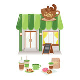 Kawowa kawiarnia Zdjęcia Stock