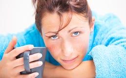 kawowa kobieta Zdjęcie Royalty Free