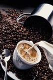 Kawowa kolekcja 4 obrazy royalty free