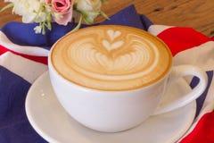 Kawowa latte sztuka Zdjęcie Royalty Free