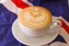 Kawowa latte sztuka Obrazy Stock