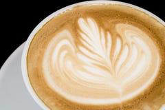 Kawowa latte sztuka w sklep z kawą Obraz Stock