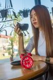 Kawowa lub herbaciana przerwa Obrazy Royalty Free