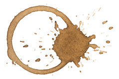 Kawowa plama obrazy royalty free