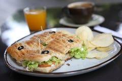 kawowa pomarańczowa kanapka Fotografia Stock