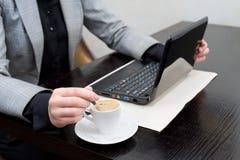 kawowa praca Zdjęcie Stock