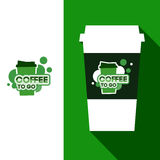 Kawowa projekt filiżanka Ilustracja Wektor