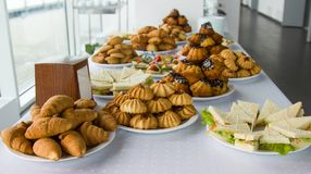 Kawowa przerwa, catering biznesowa konferencja obraz stock