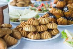 Kawowa przerwa, catering biznesowa konferencja Zdjęcia Royalty Free