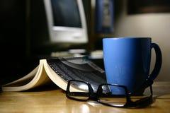Kawowa przerwa - komputer Obrazy Royalty Free