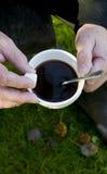 Kawowa przerwa outdoors Obraz Royalty Free