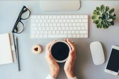 Kawowa przerwa w biurze zdjęcie royalty free