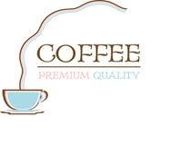Kawowa retro logo premii ilość Fotografia Royalty Free