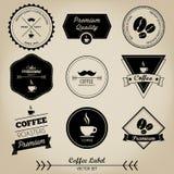Kawowa rocznik etykietka Obrazy Royalty Free