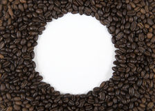 Kawowa Round granica Fotografia Stock