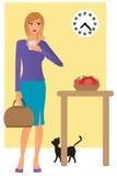 kawowa target1801_0_ kobieta Zdjęcie Stock
