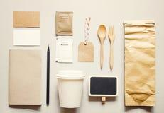 Kawowa tożsamość oznakuje mockup set Obrazy Royalty Free