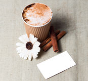 Kawowa tożsamość oznakuje mockup set Obrazy Stock