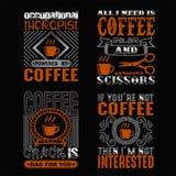 Kawowa wycena i Mówić Ustalony dobrego dla druku obrazy stock
