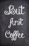 Kawowa wycena pisać z kredą na czarnej desce Obraz Royalty Free
