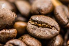 Kawowe fasole Makro- Zdjęcia Stock