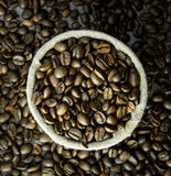 Kawowe fasole w masie Fotografia Royalty Free